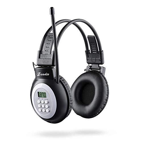 Zeadio Walkman Headphone Radio, FM Stereo Headset Radio Receiver