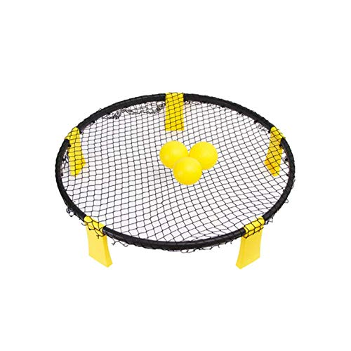 Shopps Volleyball Spike Ball Game with 3 Balls, Small and portable Detachable Drawstring Bag Game Toy, Fits Outdoors, Indoors,Beach, Backyard, Kids,Adults