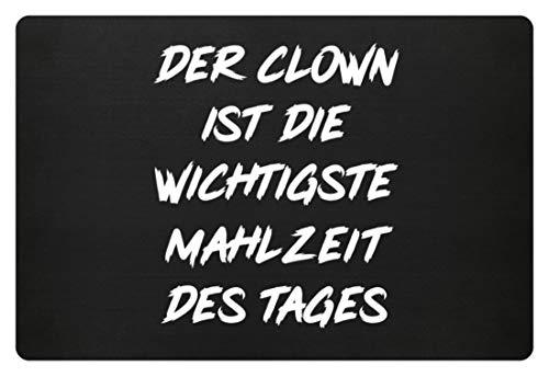 Generieke de clown is de belangrijkste maaltijd van de dag - eenvoudig en grappig design - voetmat