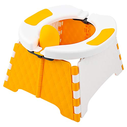CNXUS Asiento de Entrenamiento portátil para IR al baño para niños pequeños | Orinal de Viaje para niños | Asiento de Inodoro Plegable | Asiento para Orinal de bebé para Interior y Exterior