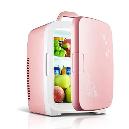 Kleine Größe Kühlschrank, 15L Mini Kühlschrank Kleinkühlung Home Kühlschrank Auto Dual-Nutzung Hostel Mini Kühlschrank-Pink 42x30x32cm (17x12x13inch) fengong