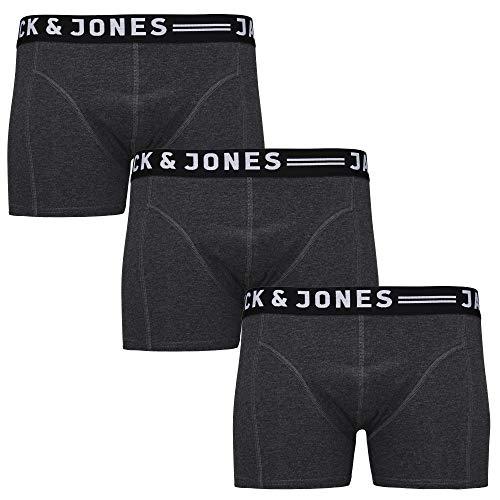 JACK & JONES Herren 3er Pack Boxershorts Mix Unterwäsche Mehrpack,#3er Pack Darkgrey,M