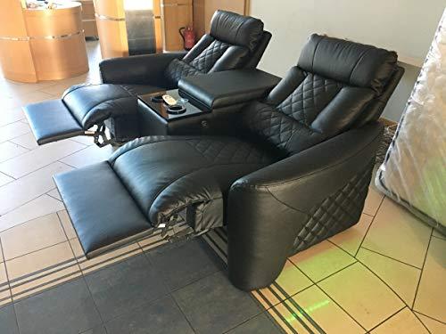Preisvergleich Produktbild Sofa Dreams Kinosessel Relax Leder mit kühlenden Becherhalter und Reclinerfunktion