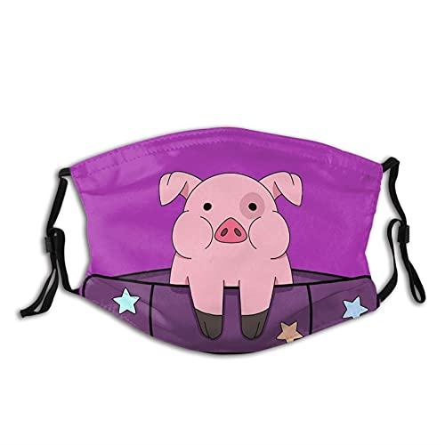 Lindo animal cerdo nariz máscara facial para hombres, mujeres y adolescentes lavable transpirable bandanas pasamontañas con 2 filtros - - talla única