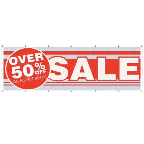 VictoryStore Outdoor Banners - Business Banner - 2 feet x 6 feet Over 50% Off Select Items! Sale� 10 Ounces Vinyl Banner, with Grommets for Hanging Photo #2
