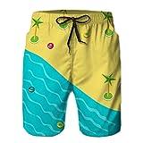 Pantalones Cortos de Playa con Estampado para Hombre Traje de baño Secado rápido Concepto de...