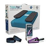 Oferta Pack Happylegs® Azul + Manos Sanas + Correas. Estimula tu circulación de piernas y manos. La Máquina de Andar Sentado que Ayuda a Mejorar la Circulación. ÚNICA fabricada en España (Azul)