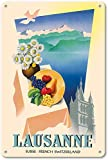 Hunnry Lausanne Suisse French Switzerland Poster Metall