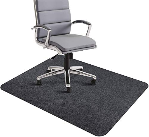 Bodenschutzmatte für Hartböden, Bürostuhlunterlage Bodenmatte Stuhlunterlage, Schreibtisch Matte Mehrzweck für Office Home Protector (Dunkelgrau, 90 x 140 cm)