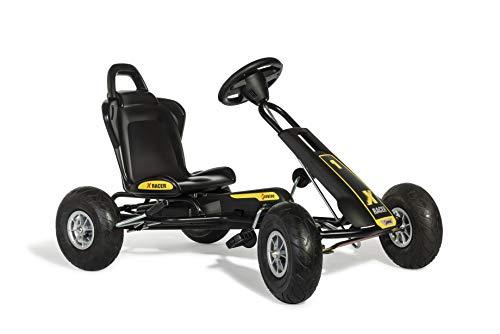Ferbedo Go Kart AT X-Racer (Gokart / Kart in schwarz mit Soundlenkrad und Luftbereifung, ab ca. 3-8 Jahre) 105007