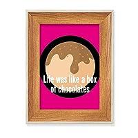 人生はチョコレートの箱のようだった デスクトップ木製フォトフレームディスプレイアート絵画セット