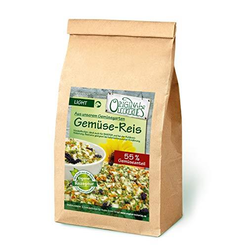 Original-Leckerlies: Gemüse-Reisflocken, 1 kg ballaststoffreiche Hundeflocken mit Gemüse und wertvollen Sonnen- und Hagebuttenkernen, Hundefutter- Naturprodukt für Hunde, barfen