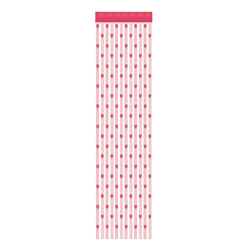 sunnymi  50 x 200 cm Love Heart Thread Curtain Window Door Divider Curtains Valance (Pink)
