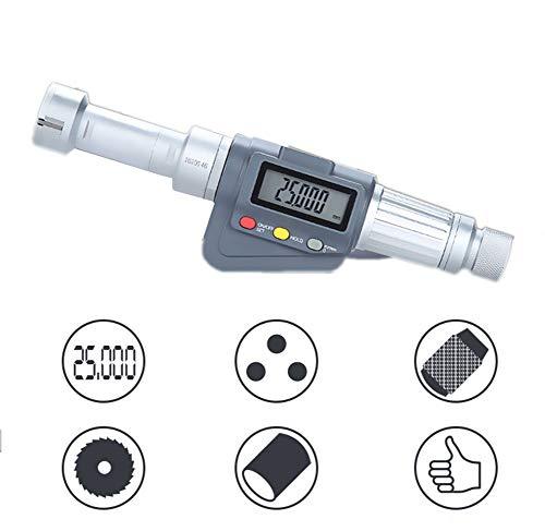 BIKEULTIMATE Micrómetros de diámetro 0,001 mm Interior Pantalla Digital de Tres Puntos Varilla Interna diámetro Tipo de Tubo de diámetro Interior micrómetro medir,25/30mm