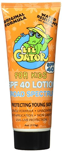 Aloe Gator Lil 'SPF 40Loción para Niños, 10424, 4 oz.