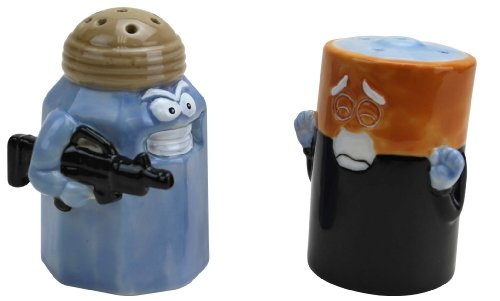 Assault Battery Salt and Pepper Shakers