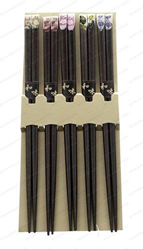 M.V. Trading 900291 Japanese Chopsticks Gift Set With Many Variety Designs, 5 Pairs