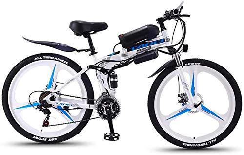 Bicicletas Eléctricas, Bicicleta eléctrica for adultos plegables, bicicletas de nieve de 350W,...