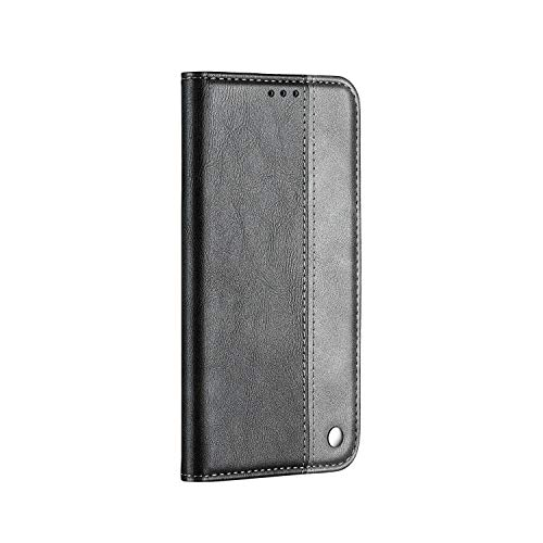 PU Leather Flip Cover Compatible with Samsung Galaxy A70, Gray Extra-Shockproof Kickstand Card Holders Wallet Case for Samsung Galaxy A70
