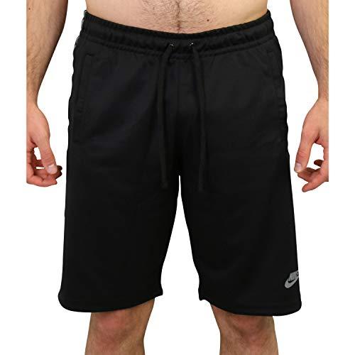 Nike Herren M NSW Repeat Short Poly Boardshorts, Negro/Blanco, L