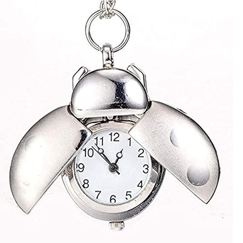 SSMDYLYM Collar de Bolsillo Siete Estrellas Mariquita de la Historieta del Reloj como Regalo de Moda Infantil for el Día del Padre Cumpleaños Aniversario (Color : A)