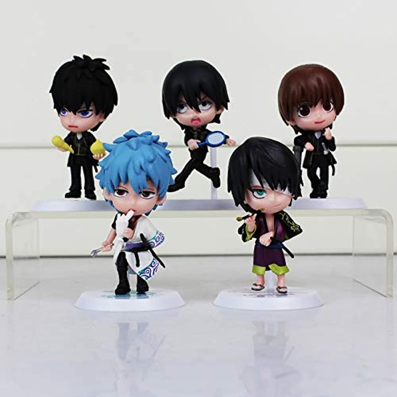 HAPP TRIX Gintama Figure Silver Soul Figures Gintama Sakata Gintoki Katsura Kotarou Hijikata Toushirou Takasugi Shinsuke Okita Sougo PVC Figure Toys5Pcs Style C