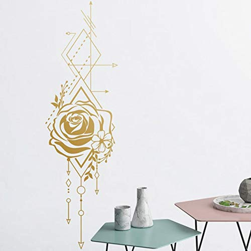 Etiqueta engomada geométrica de la rosa,etiqueta engomada de la flecha,etiqueta engomada de l vinilo,etiqueta engomada del fondo de la rosa,,etiqueta de l dormitorio A6 17X57cm
