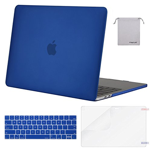 MOSISO MacBook Pro 13 inch Case 2019 2018 2017 2016 Release A2159 A1989 A1706 A1708, Plastic Hard Shell &Keyboard Cover &Screen Protector &Storage Bag Compatible with MacBook Pro 13, Royal Blue