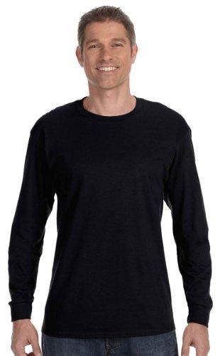 Gildan Mens 5.3 oz. Heavy Cotton Long-Sleeve T-Shirt G540 -BLACK XL