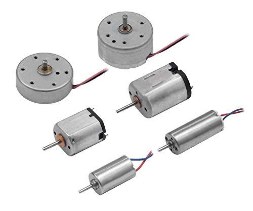 Edelstahlmarkenshop Miniatur Elektro Motor in 6 Ausführung & Größen auswählbar 1,5V, 3V, 4,2V, 5,9V (Modell: E, Maße: 24x8mm 4,2V)