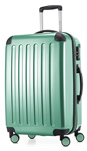 HAUPTSTADTKOFFER - Alex - Luggage Suitcase Hardside Spinner Trolley 4 Wheel Expandable, 65cm, TSA, Mint