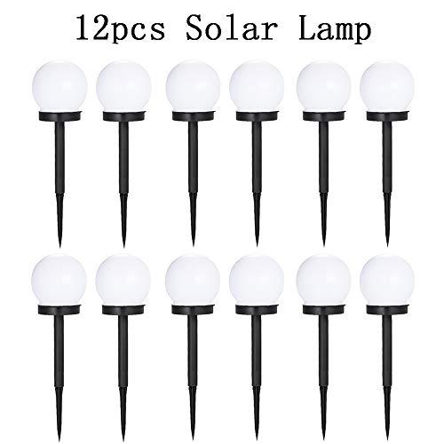 STHfficial 2/4 / 6/8 / 12 stuks LED-lampen op zonne-energie voor buiten, met parkeerlicht, zonnelamp voor de tuin, LED-verlichting via 12pcsSolarLamp