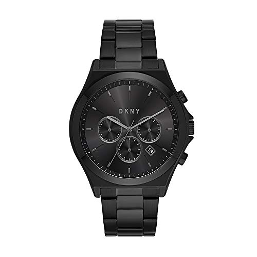 DKNY Men's Parsons Quartz Watch with Stainless-Steel-Plated Strap, Black, 22 (Model: NY1603)
