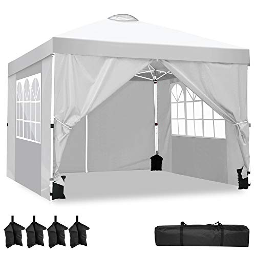 YUEBO Carpas Plegables, Carpa 3x3 m con 4 Laterales Cenador Plegable Impermeable...