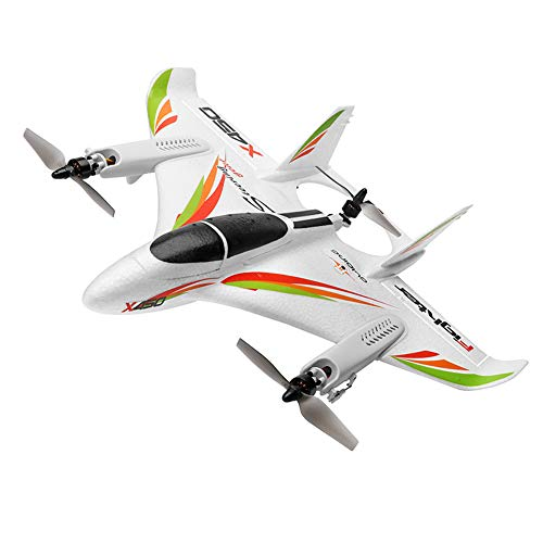 AKDSteel WLtoys XK X450 2.4G 6CH 3D/6G RC Airplane Brushless Motor Vertical Take-off LED Light RC Glider Fixed Wing RC Plane Aircraft RTF Ready to Fly Rc Planes for Adults
