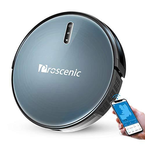 Proscenic 830T Aspiradora Robot, Aspirador y Fregona 2000Pa, Alexa, Control de voz Google Home, limpieza húmeda de la casa a 180,, ideal para el cabello / cabello / polvo de mascota