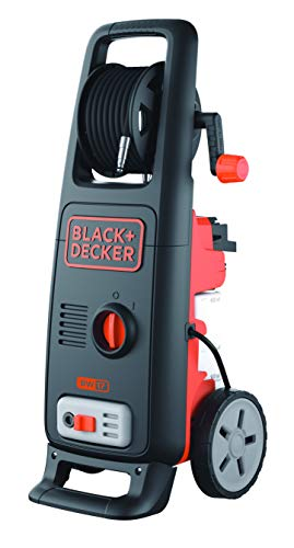 BLACK+DECKER BW17-IN 1700W 130 Bar, 420 L/hr Pressure Washer (Red and Black)
