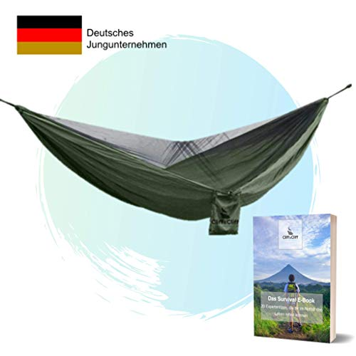 Cliff&Cliff® Hängematte Outdoor Wunder - Innovative 2 in 1 Outdoor Hängematte mit...
