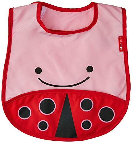 Skip Hop Zoo Little Kid and Toddler Tuck-Away Water Resistant Baby Bib, Multi...