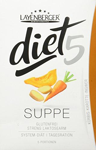 Layenberger diet5 Suppe Kürbis-Karotte-Ingwer, 5 Stück