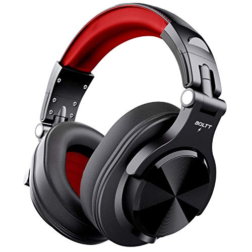 Fire-Boltt Blast 1400 Over-Ear Bluetooth Wireless Headphones with 25H Playtime, Thumping Bass, Lightweight Foldable Compact Design with Google/Siri Voice Assistance & in Built mic & 40mm Drivers