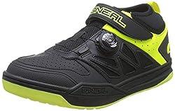 O'NEAL | Fahrrad-Schuh | Mountainbike MTB DH FR Downhill Freeride | SPD-Pedalplatten-kompatibel, Schnellschnür-System, atmungsaktiv | Session SPD Shoe | Erwachsene | Schwarz Neon-Gelb | Größe 44