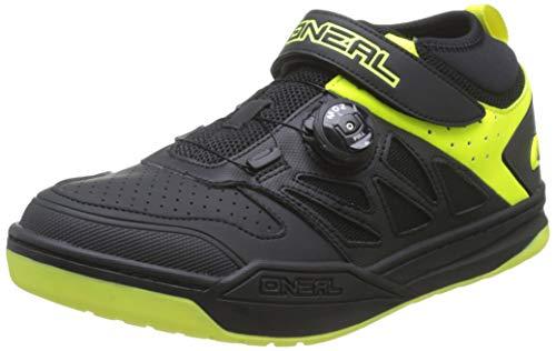 O'NEAL | Fahrrad-Schuh | Mountainbike MTB DH FR Downhill Freeride | SPD-Pedalplatten-kompatibel, Schnellschnür-System, atmungsaktiv | Session SPD Shoe | Erwachsene | Schwarz Neon-Gelb | Größe 43