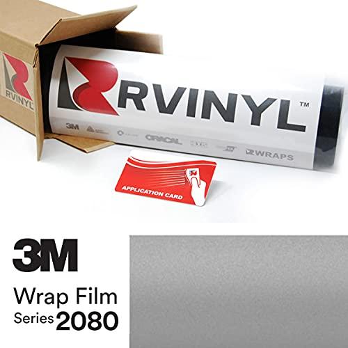 3M 2080 M21 Matte Silver 5ft x 1ft W/Application Card Vinyl Vehicle Car Wrap Film Sheet Roll