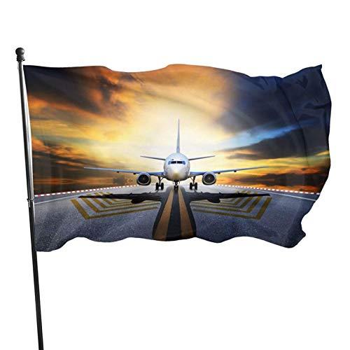 GOSMAO Bandera de jardín Bandera, Mochila Avión Color Vivo y Resistente a la decoloración UV Bandera de Patio de Doble Costura Bandera de Temporada Banderas de Pared 150X90cm