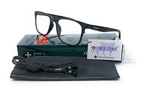 Gafas de lectura, presbicia, vista cansada, Diseño en 4 Colores. VENICE Executive - Dioptrías: 1 a 3,5 (Negro, 1.00)