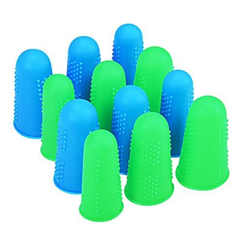 Alivier Fingerschutz aus Silikon für Kleber, Handwerk, Nähen, Wachs, Fingerrissen/Sportspiele (klein, mittel, groß), 3 Stück
