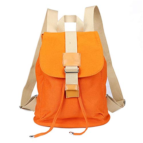 NgMik Estudiante de Bolsa de Escuela Mujeres Adolescentes Chicas Escuela Backpack Bookbag Viajar Laptop Mochila Casual Daypacks Bookpacks para Adolescentes (Color : Orange, Size : 16inch)