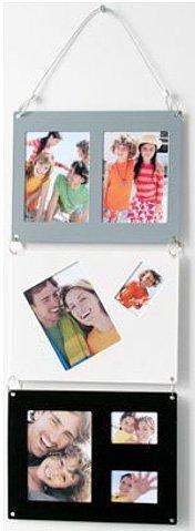 Euratio CPS Magnet 3teilige Galerie zum hängen, magnetische Bilderrahmen mit 7 verschieden Bildausschnitten