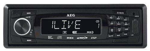 AEG AR 4020 Autoradio (CD/MP3-Player, UKW-/MW-Tuner, SD Kartenslot, USB) schwarz